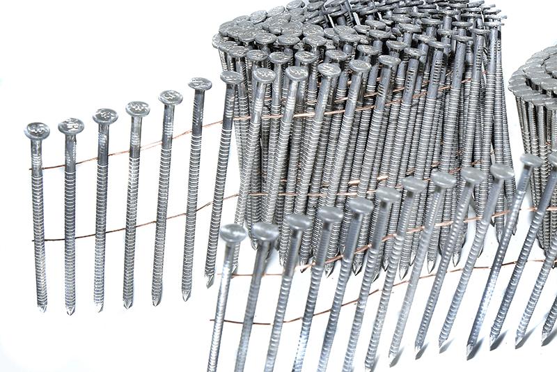 gwoździe łączone drutem